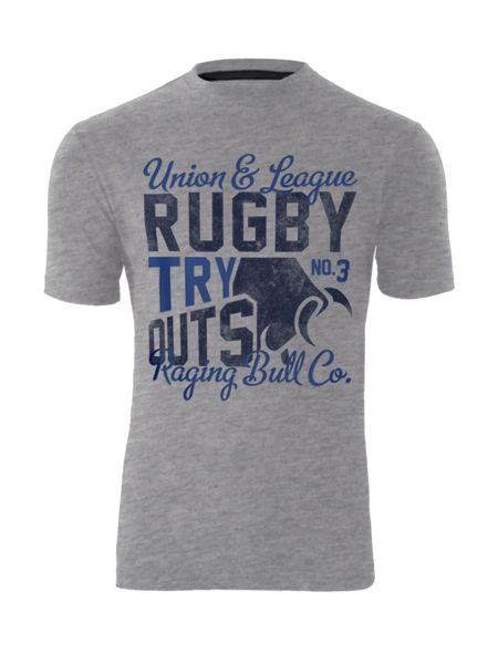 Raging Bull Rugby try outs T-shirt