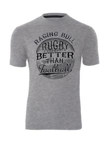 Raging Bull Rugby Better than Football T-shirt