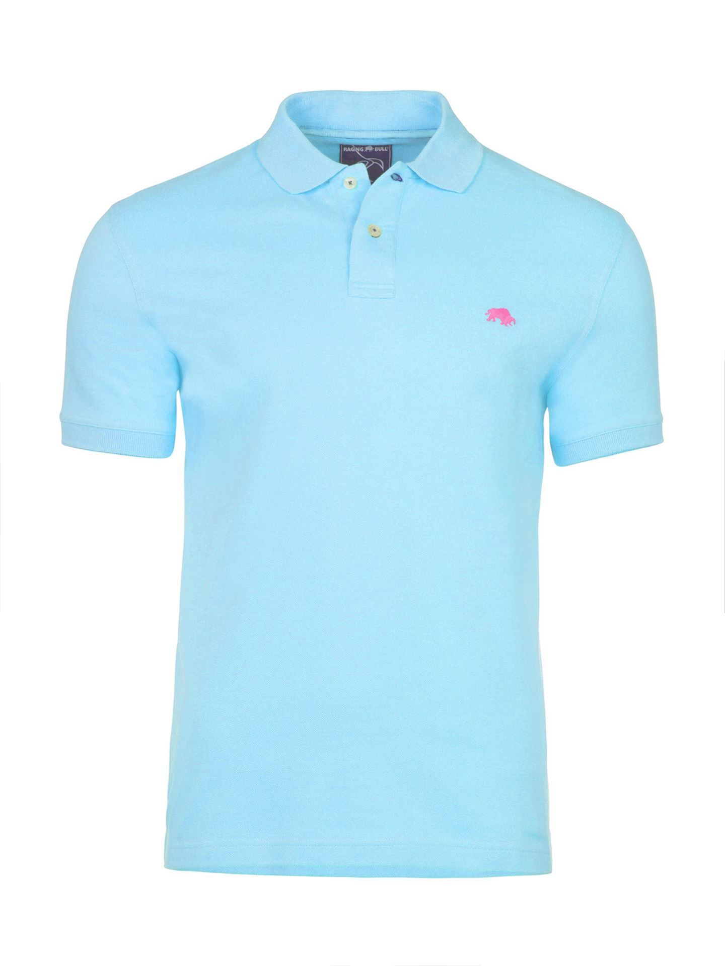 Men's Raging Bull Fly Fit Plain Polo, Sky Blue