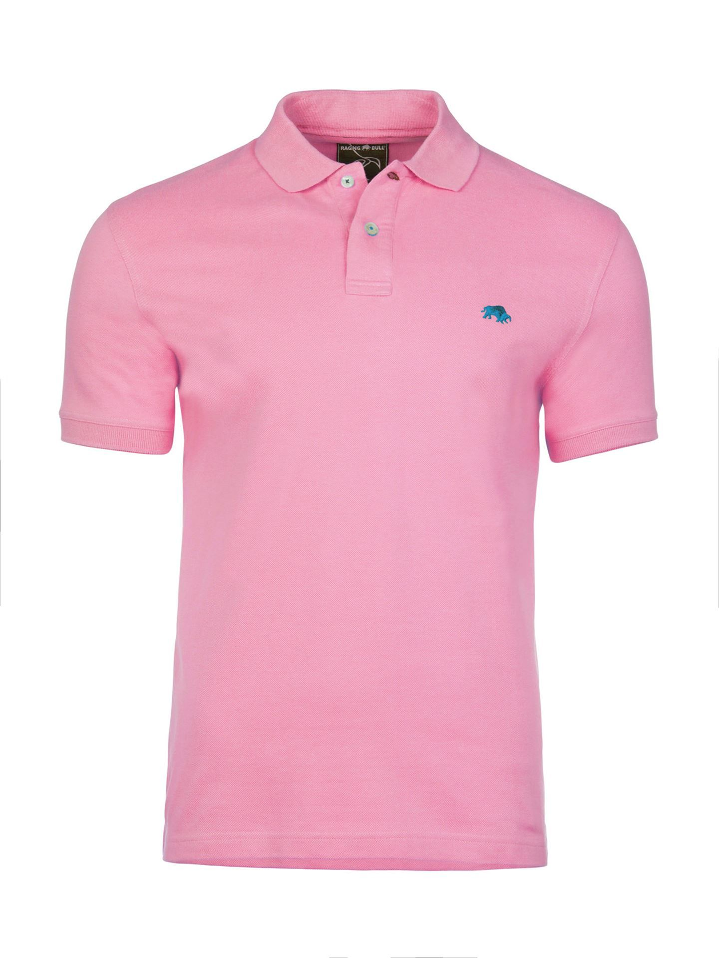Men's Raging Bull Fly Fit Plain Polo, Pink