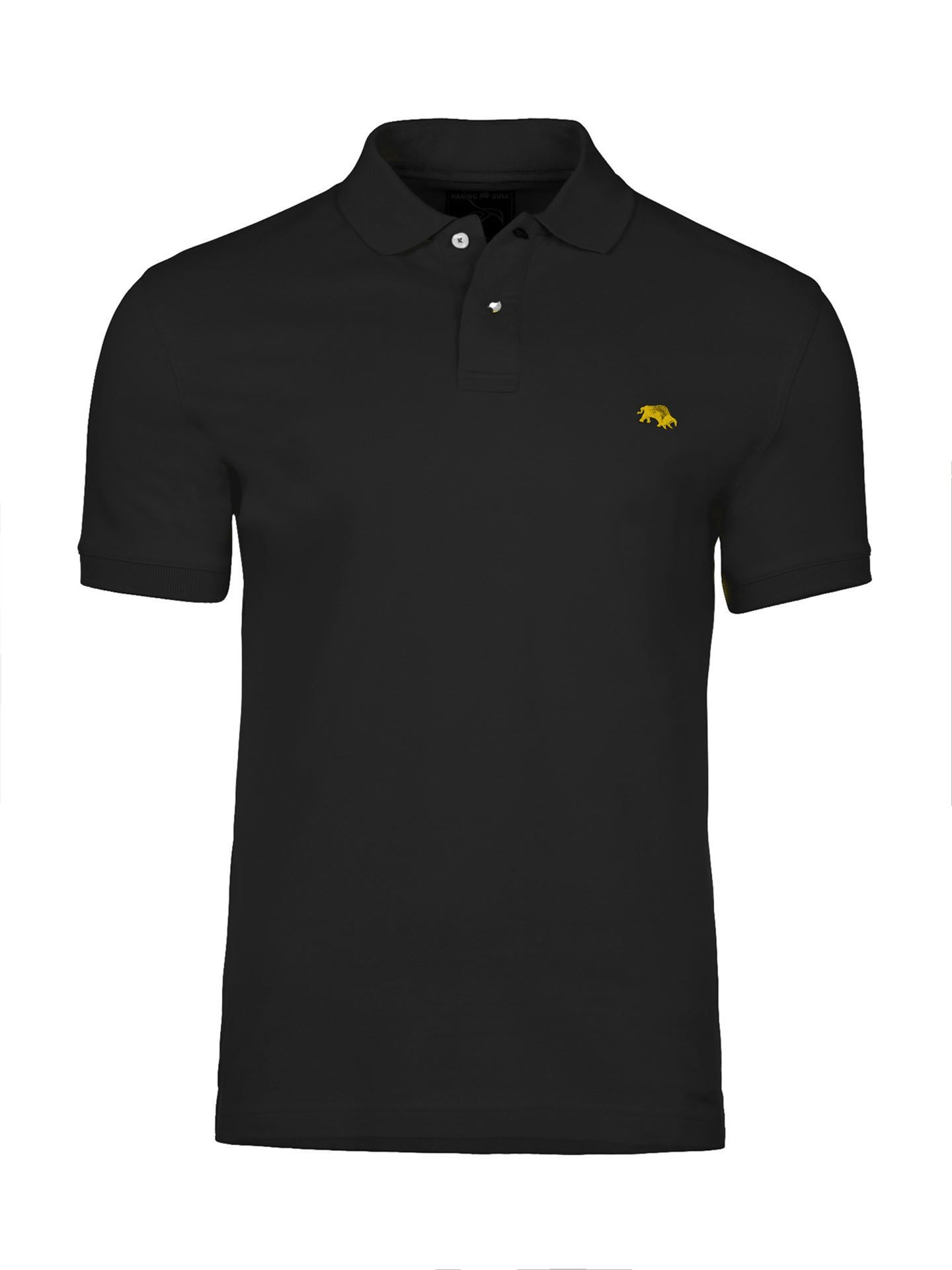 Men's Raging Bull Fly Fit Plain Polo, Black