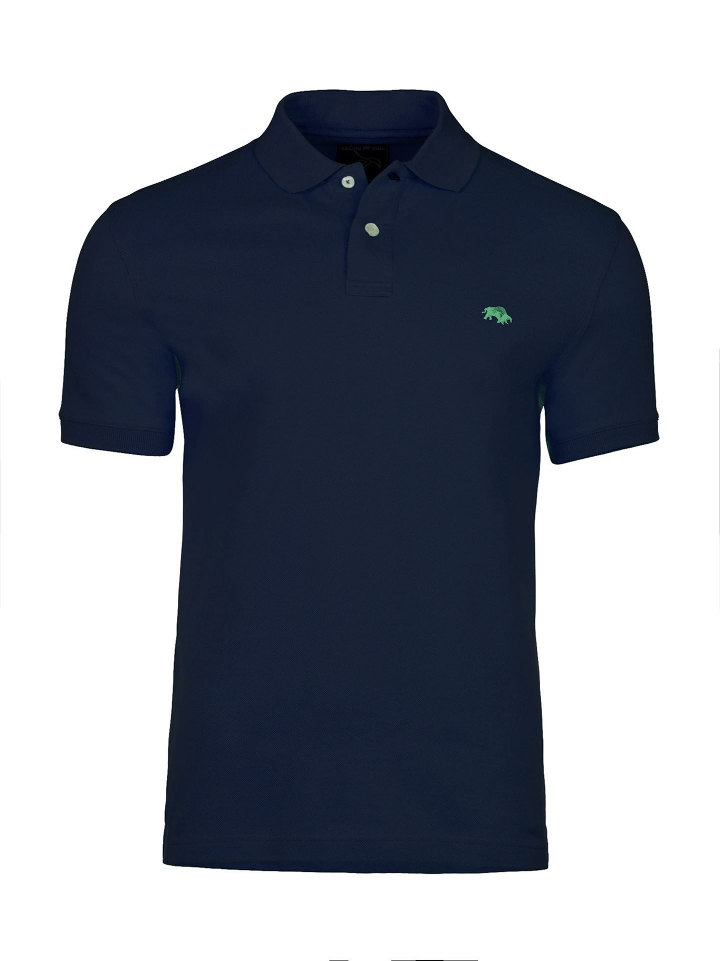 Men's Raging Bull Fly Fit Plain Polo, Blue