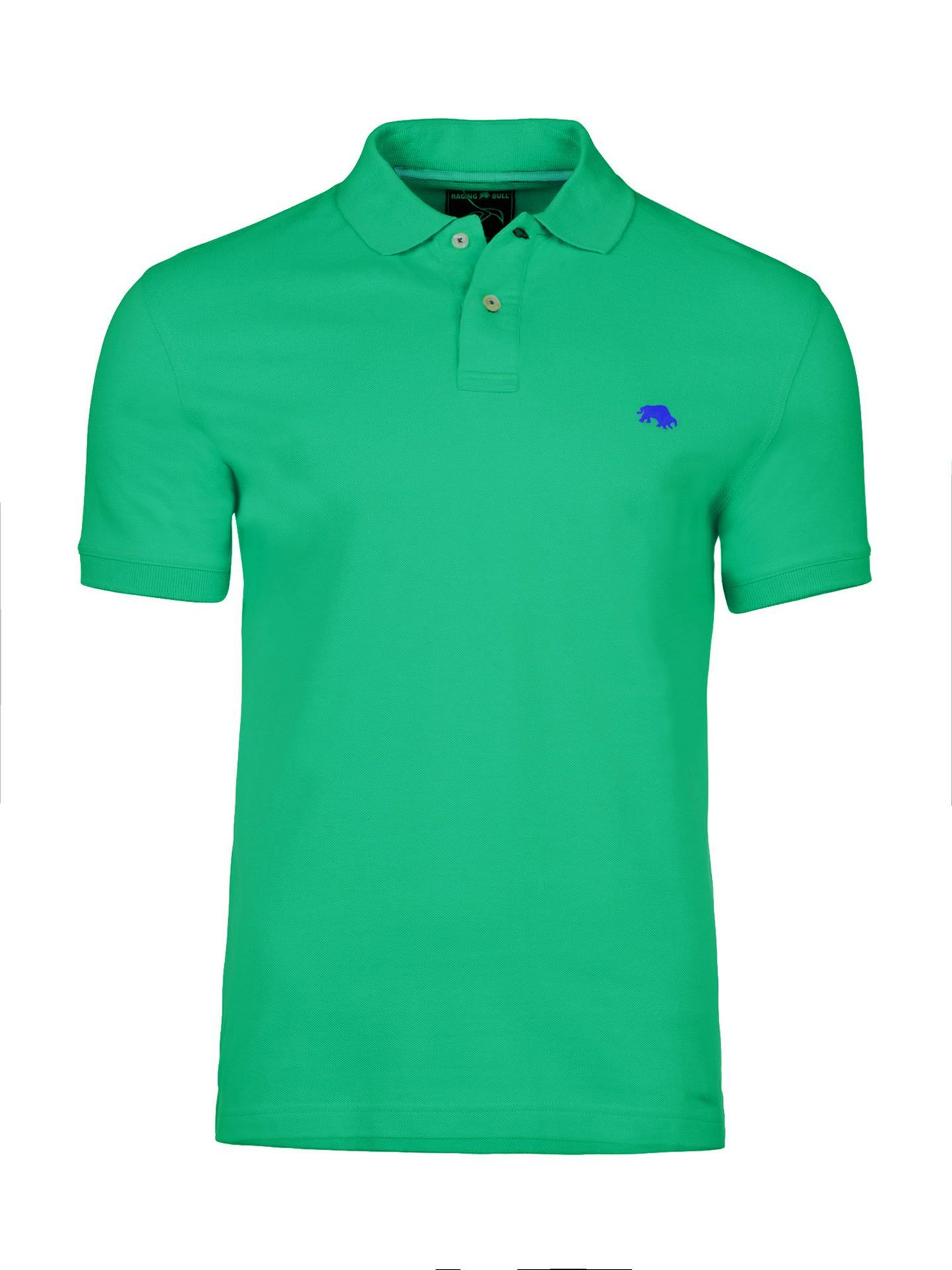 Men's Raging Bull Fly Fit Plain Polo, Green