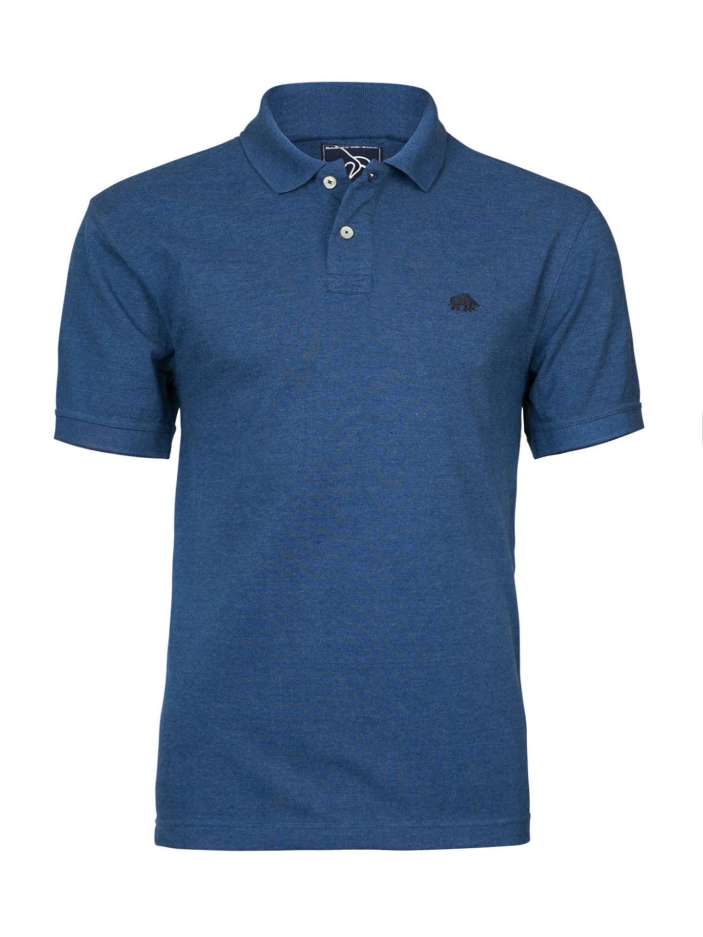 Men's Raging Bull Fly Fit Plain Polo, Denim