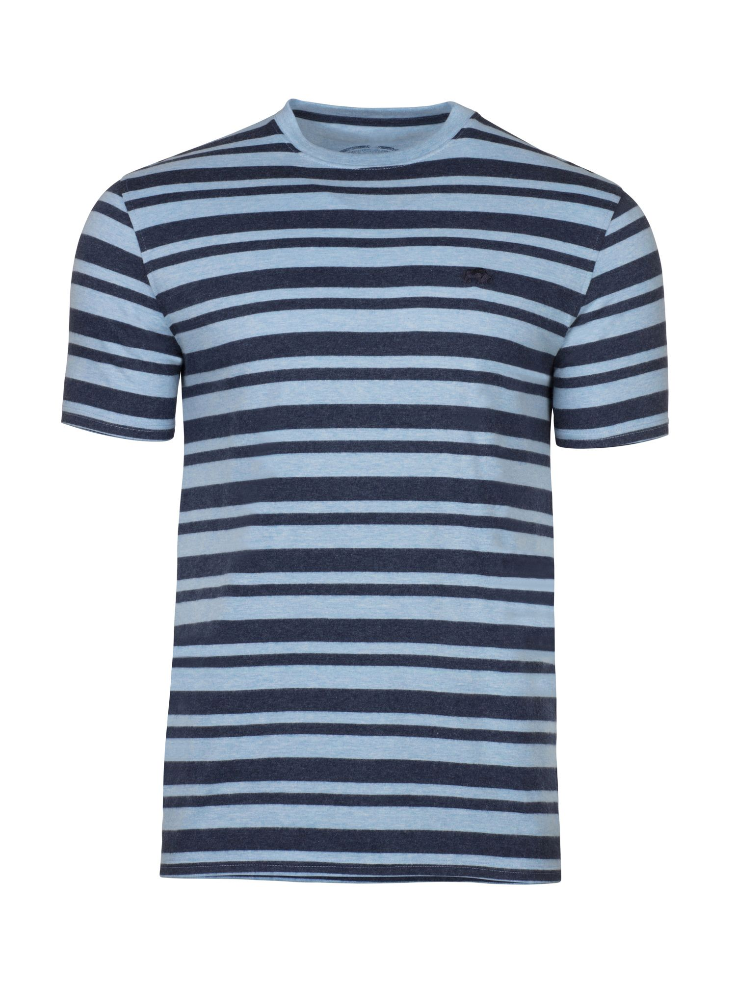 Men's Raging Bull Big & Tall Marl Stripe Tee, Sky Blue