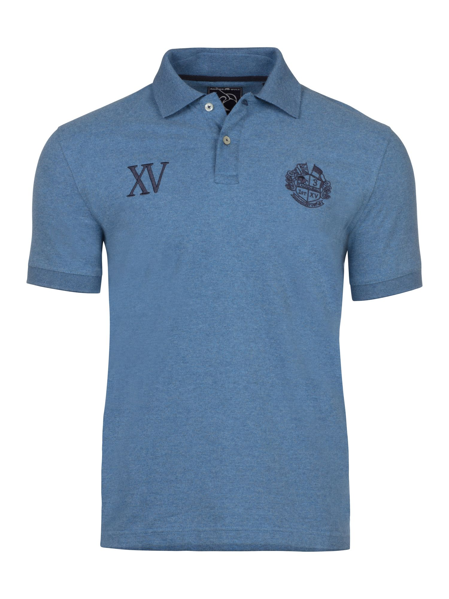 Men's Raging Bull Big & Tall First XV Jersey Polo, Denim