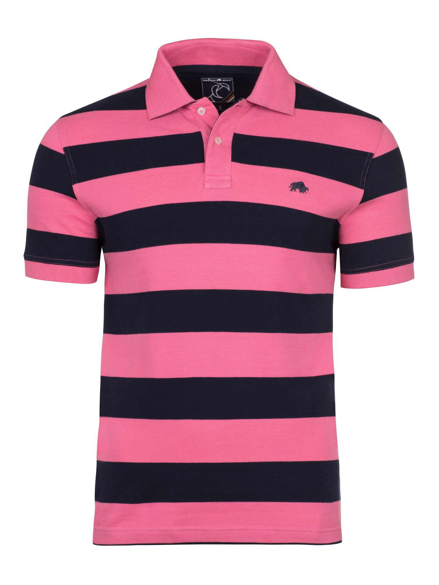Men's Raging Bull Big & Tall Large Hoop Polo, Pink