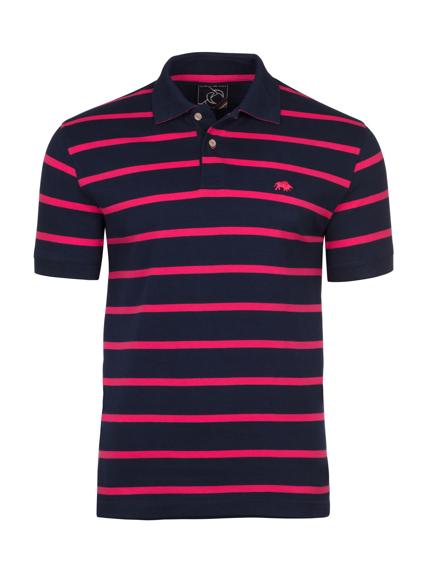 Men's Raging Bull Big & Tall Thin Stripe Polo, Pink