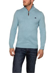 Raging Bull Knitted Cott/Cash 1/4 Zip