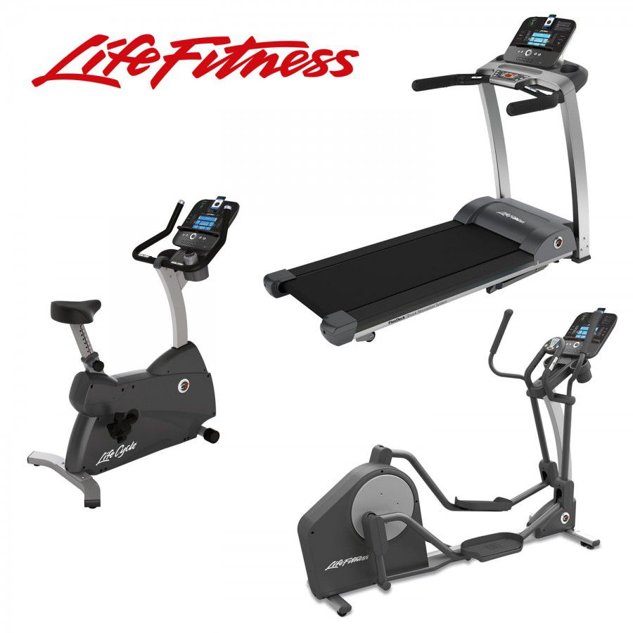 Life Fitness Cardio Package 1: F3 Treadmill, C3 Cycle & X3