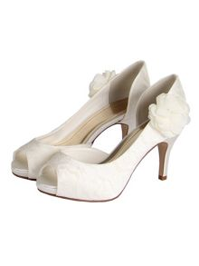 Gala lace peep toe shoes