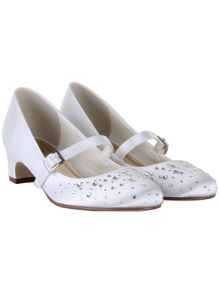 Rainbow Club Girls Cherry Communion Bar Shoes