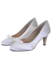 Daisy satin court shoes