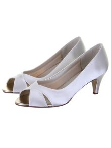 Evie satin peep toe shoes