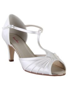 Rainbow Club Katy satin peep toe shoes