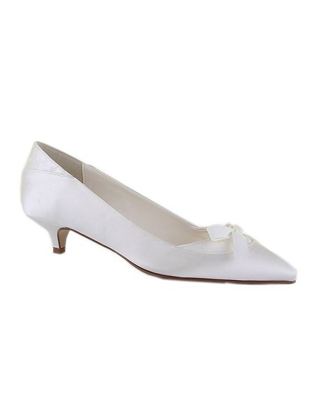 Rainbow Club Bijou satin kitten heel shoes Ivory - House of Fraser