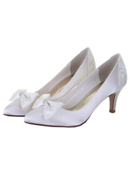 Rainbow Club Perry lace panel court shoes