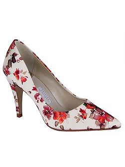 Valentina floral court shoes