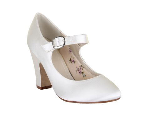 Rainbow Club Madeline ivory satin mary jane shoes