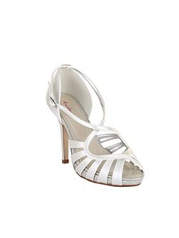 Cassie strappy satin sandal heel shoes