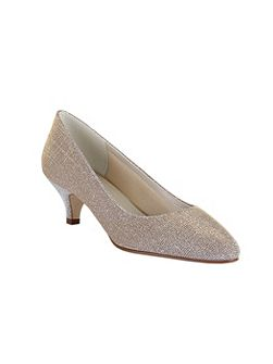 Winnie metallic sparkly mid heel shoes