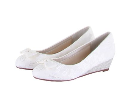 Rainbow Club Girls Zoe lace pump kids shoes