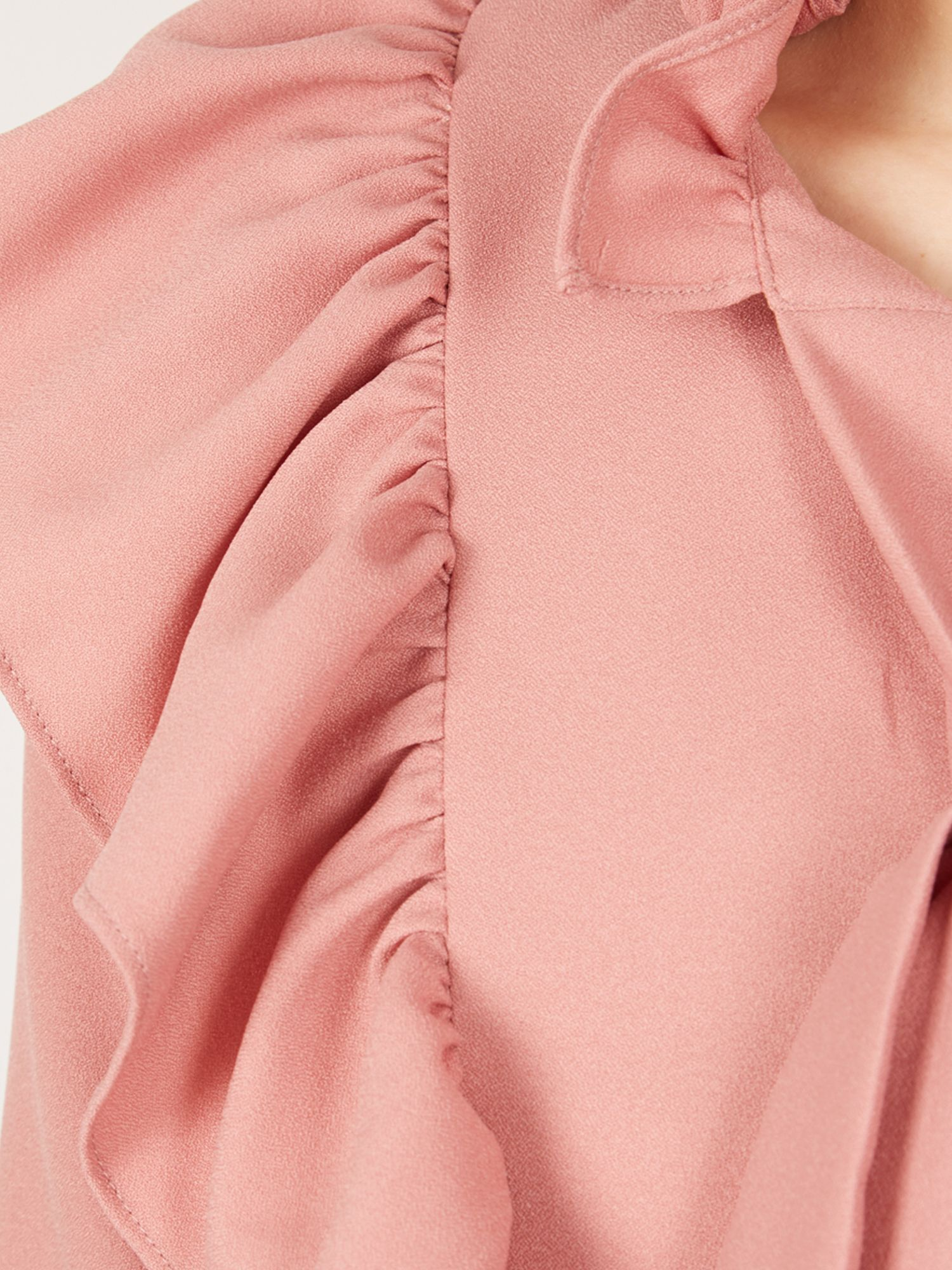 MISSTRUTH Pussybow Keyhole Detail Dress, Pink