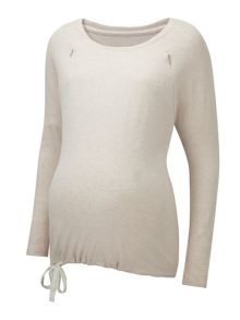 Amoralia Zip pj nursing top