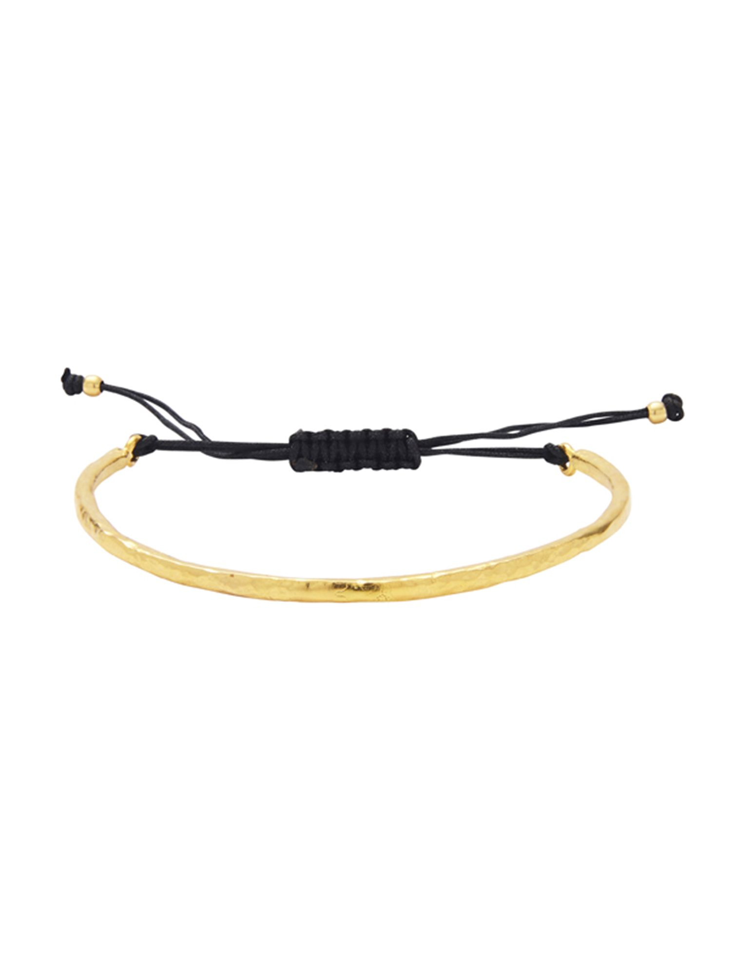 Ottoman Hands Ottoman Hands Gold and cord bracelet, N/A