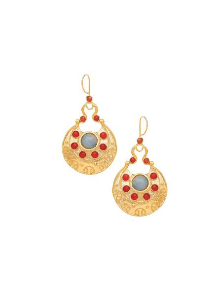 Ottoman Hands Cazibe flat drop earrings