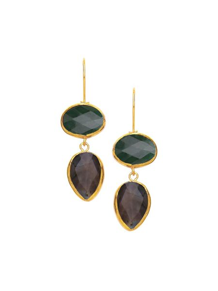 Ottoman Hands Large two stone earrings