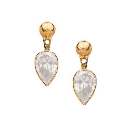 Ottoman Hands Crystal quartz swing earrings