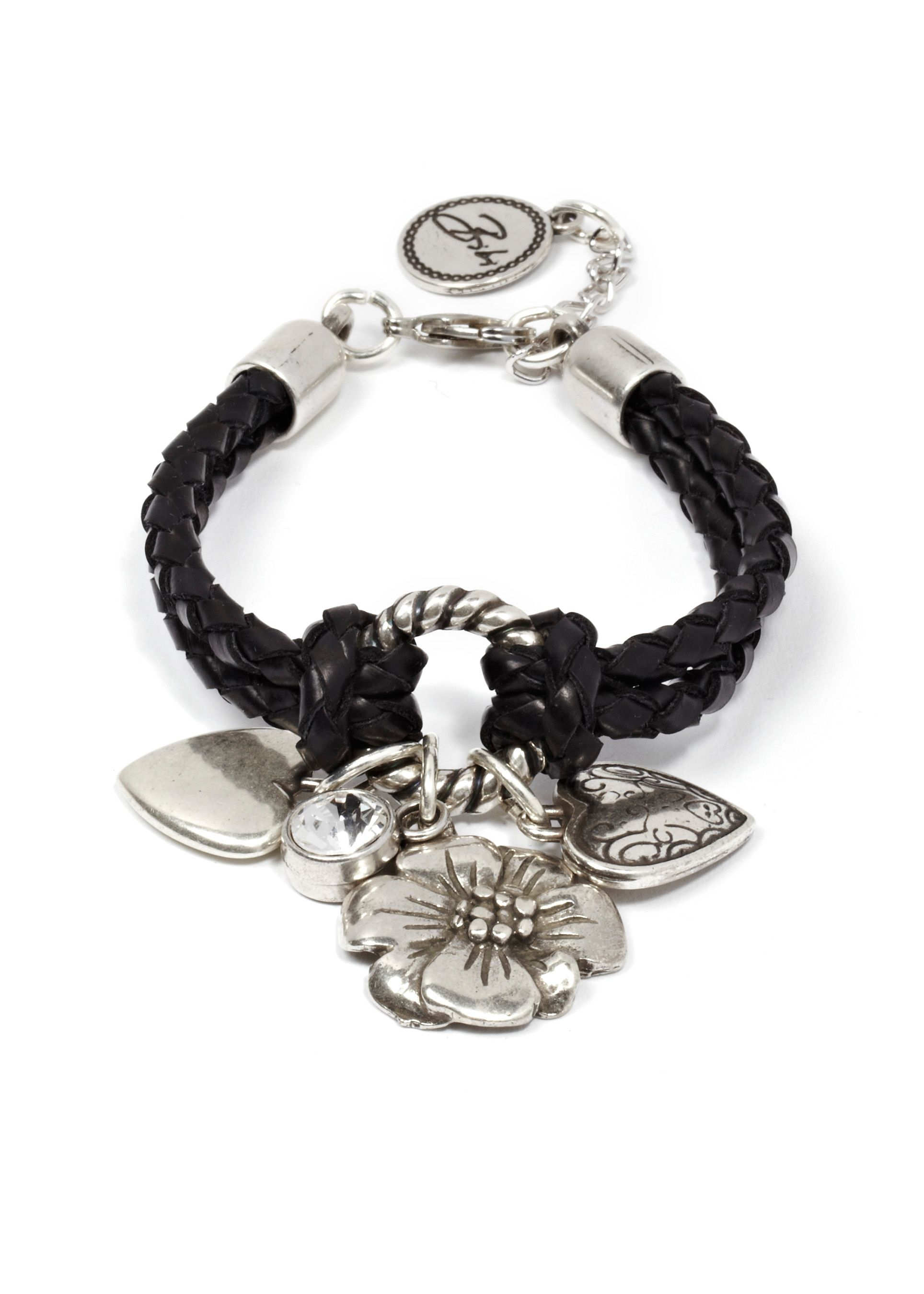 Iris leather ring & charms bracelet