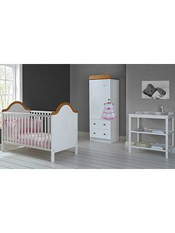 B is for Bear Nursery Set - White