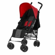 OBABY Atlas black/grey stroller - red