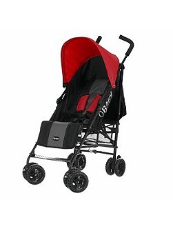 Atlas black/grey stroller - red