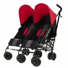 Apollo black/grey twin stroller