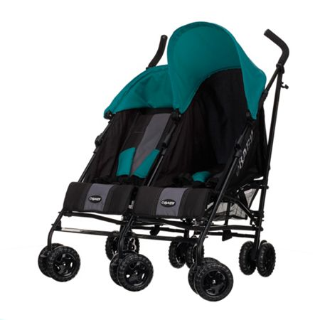OBABY Apollo Twin Stroller - Turquoise
