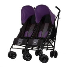 OBABY Apollo Twin Stroller - Purple
