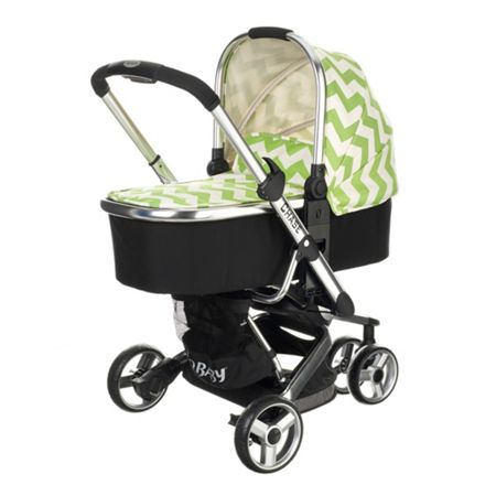 OBABY Chase Carrycot - ZigZag Lime