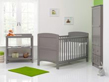 OBABY Grace Nursery Set - Taupe Grey