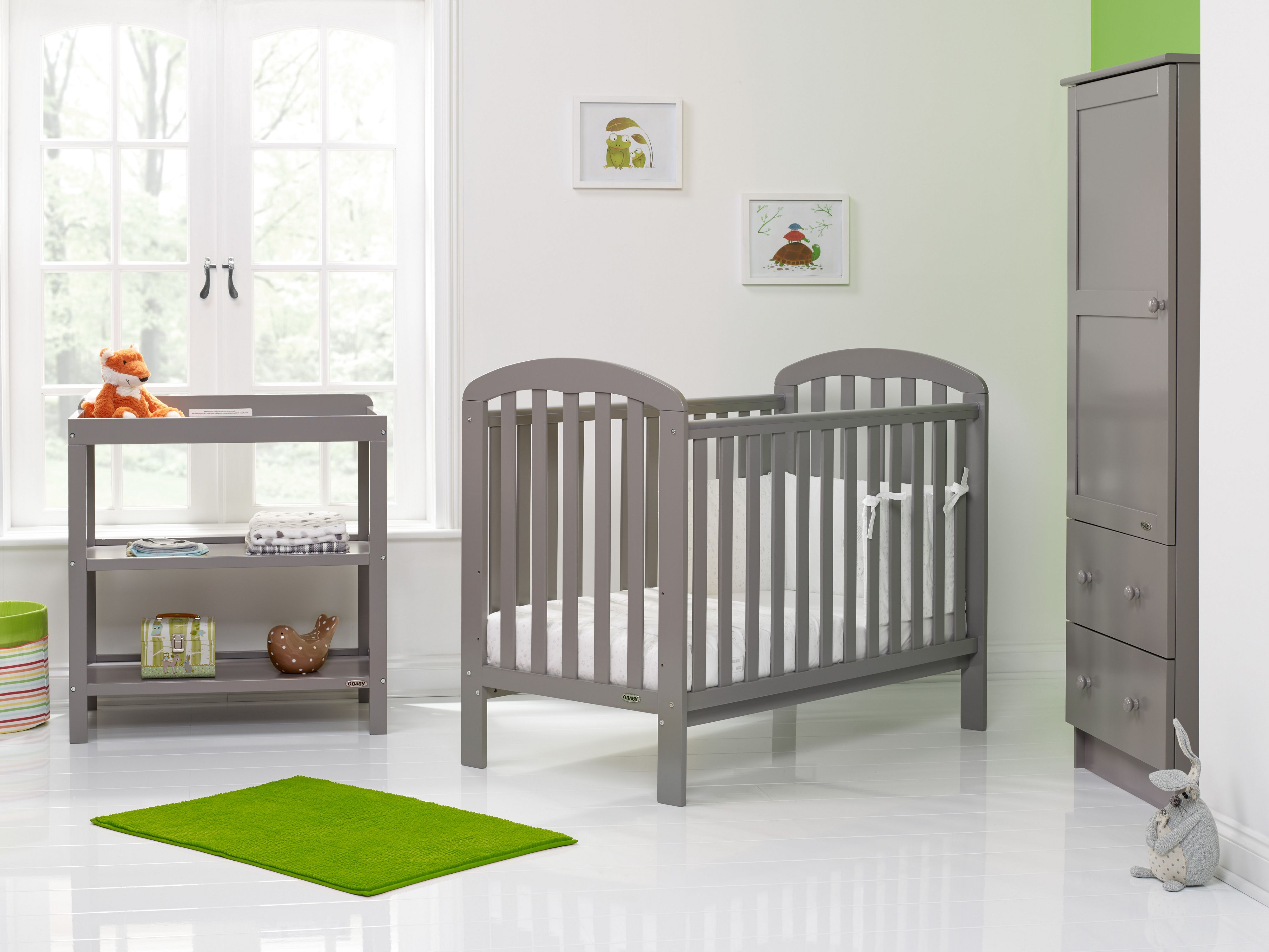 Obaby Lily Taupe Grey Nursery Furniture Set