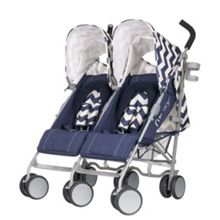 OBABY Leto plus twin stroller - navy