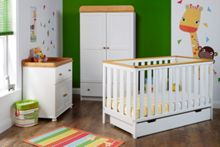 OBABY York Nursery Set - White
