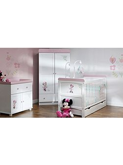 OBABY Minnie Mouse Nursery Set - White
