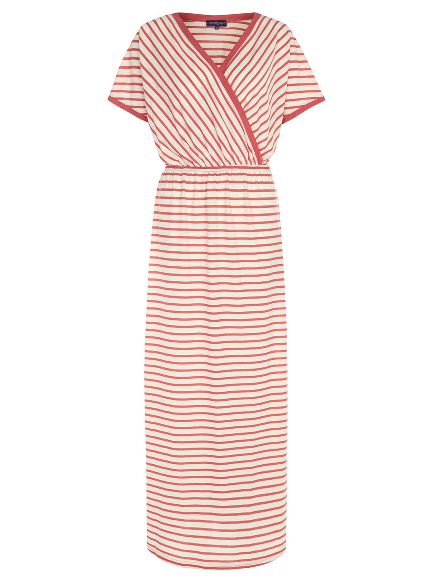 HotSquash Striped Maxi Dress in CoolFresh fabric, Coral
