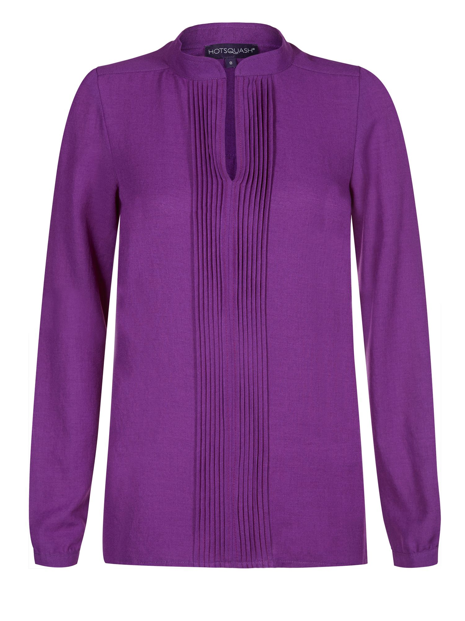 HotSquash Pleat blouse in clever fabric, Berry