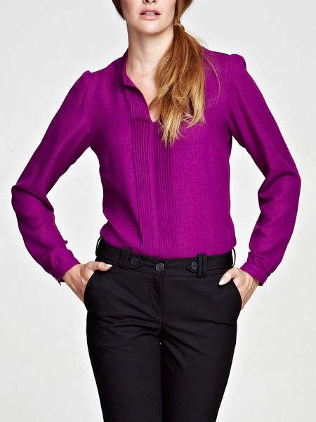 HotSquash Pleat blouse in clever fabric
