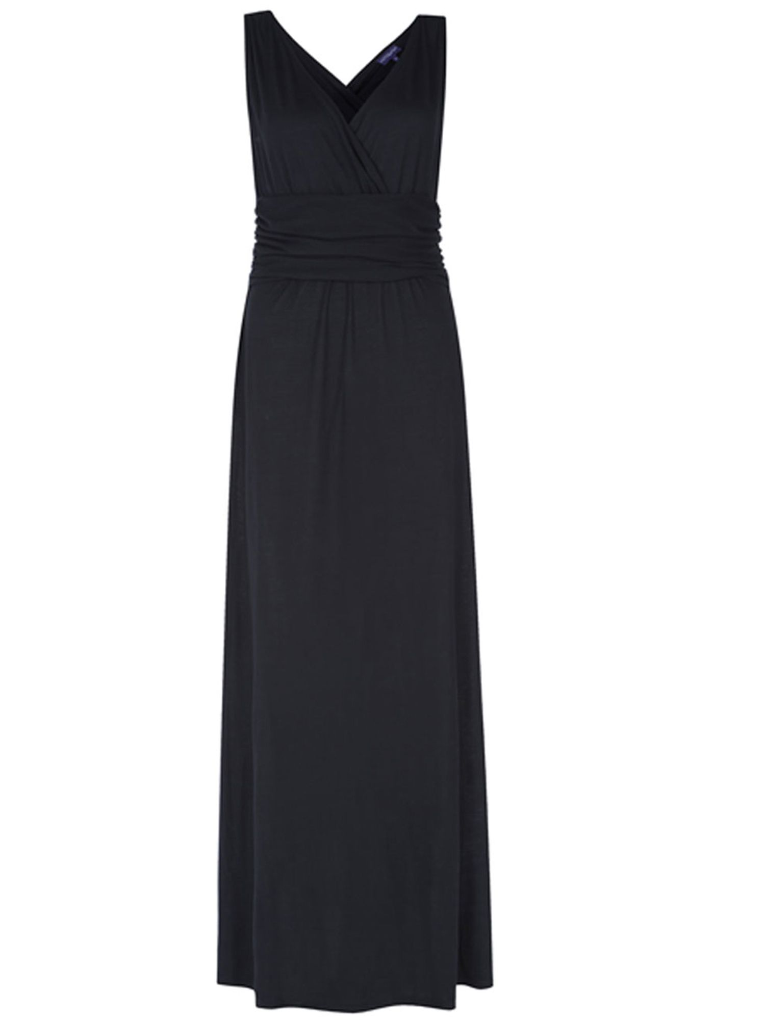 HotSquash V Neck Maxi Dress In CoolFresh Fabric, Black