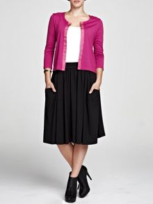 Floaty fit and flare skirt in thinheat